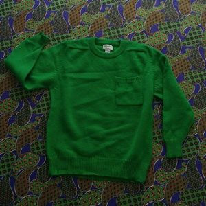 Y2K Kelly Green Wool Sweater 🍀 - L